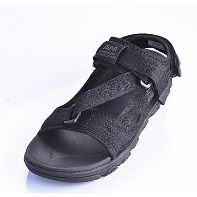 Dámské Boty Látka Jaro Pohodlné Sandály pro Ležérní Černá Tmavomodrá Červená