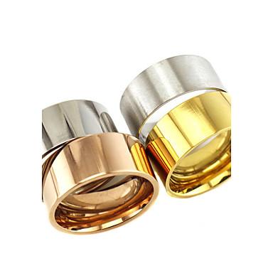 Pánské Dámské Snubní prsteny Prsten Klasické Základní Nerez Tube Shape Šperky Dar Denní Ležérní Miláček
