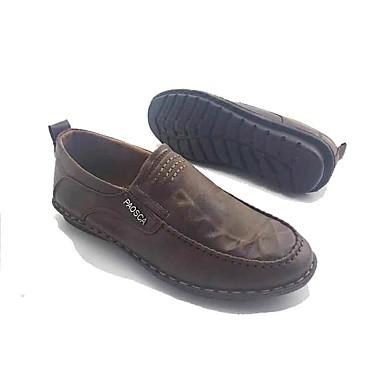Homens sapatos Tecido Primavera Outono Sapatos formais Conforto Mocassins e Slip-Ons Caminhada para Casual Escritório e Carreira Marron