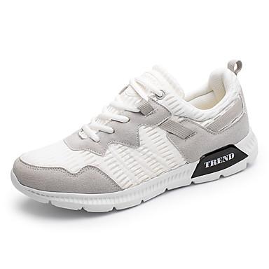 Miesten kengät PU Kevät Syksy Comfort Urheilukengät varten Kausaliteetti Valkoinen Musta Khaki