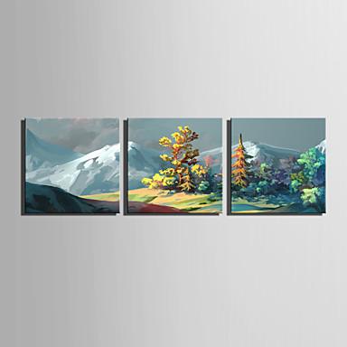 Tela de impressão 3 Painéis Tela de pintura Quadrada Estampado Decoração de Parede Decoração para casa