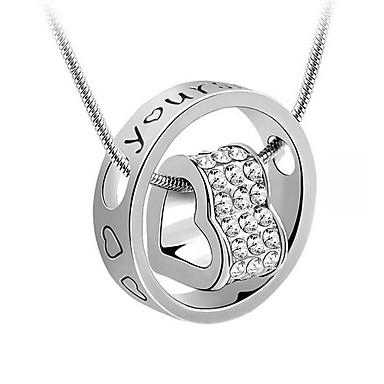 Dámské Kulatý Srdce Tvar láska Srdce Náhrdelníky s přívěšky Pozlacené Náhrdelníky s přívěšky Dar Miláček Kostýmní šperky