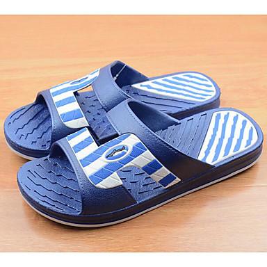 Herren Schuhe Gummi Frühling Komfort Slippers & Flip-Flops Für Normal Blau Khaki