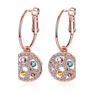 Damen Tropfen-Ohrringe Kristall Kubikzirkonia Personalisiert Geometrisch Kreisförmiges Einzigartiges Design Anhänger Stil Klassisch Retro