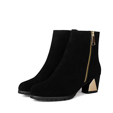 Damen Schuhe PU Frühling Komfort Stiefel Für Normal Schwarz