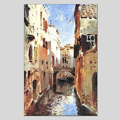 Ručně malované Abstraktní Vertikální Panoramic,Moderní Klasický Jeden panel Plátno Hang-malované olejomalba For Home dekorace