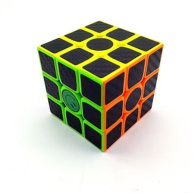 Rubik's Cube Carbon Fiber 3*3*3 Smooth Speed Cube Magic Cube Puzzle Cube Matte Sticker Competition Gift Unisex