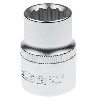 Ocelový štít 19mm série metrický 12 úhel standardní pouzdro 19mm / 1 podpora