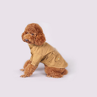 Cachorro Casacos Roupas para Cães Casual Sólido Verde Caçador Khaki Ocasiões Especiais Para animais de estimação