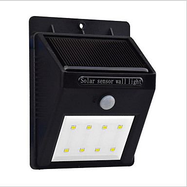 0.5 W Luzes Solares LED Impermeável / Sensor do corpo humano Branco Frio Iluminação Externa