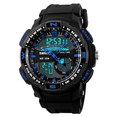 Inteligentní hodinky Voděodolné Dlouhá životnost na nabití Multifunkční Sportovní Stopky Budík Chronograf Kalendář Hodinky s dvojitým