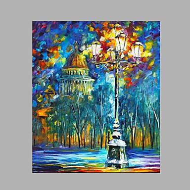 Maalattu Maisema Moderni/nykyaikainen 1 paneeli Kanvas Hang-Painted öljymaalaus For Kodinsisustus