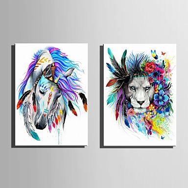 Zvířata Moderní evropský styl, Jeden panel Plátno Vertikální Grafika Wall Decor Home dekorace