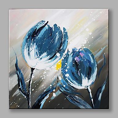 Ručně malované Květinový/Botanický motiv Obdélníkový, Vzor Plátno Hang-malované olejomalba Home dekorace Jeden panel