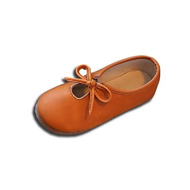 Para Meninas sapatos Courino Verão Outono Solados com Luzes Rasos Caminhada Laço para Casual Preto Marron Rosa claro