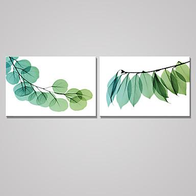 Aufgespannte Leinwandrucke Blumenmuster/Botanisch Modern,Zwei Panele Horizontal Druck-Kunst Wand Dekoration For Haus Dekoration