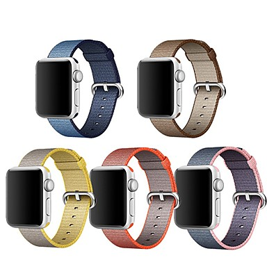 Urrem for Apple Watch Series 4/3/2/1 Apple Klassisk spænde Nylon Håndledsrem