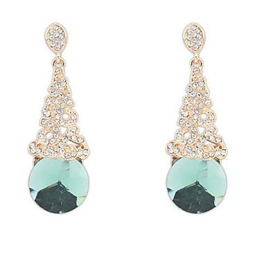 Damen Ohrstecker Tropfen-Ohrringe Kreolen Synthetischer Diamant Strass Personalisiert Religiöser Schmuck Luxus Einzigartiges Design Logo