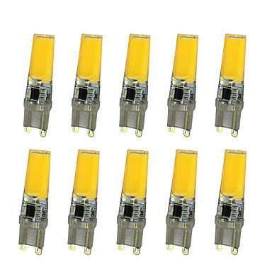 10pçs 5W 360 lm Luminárias de LED  Duplo-Pin T leds COB Branco Quente Branco AC 220-240V