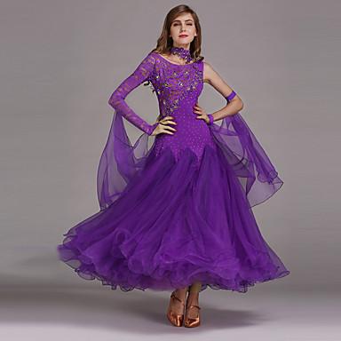 economico Abbigliamento e scarpe da ballo-Balli da sala Vestiti Per donna Prestazioni Elastene / Di pizzo / Tulle Abito