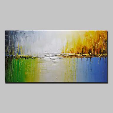 Ručně malované Abstraktní Horizontální, evropský styl Moderní Plátno Hang-malované olejomalba Home dekorace Jeden panel