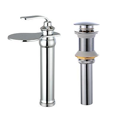 Conjunto Central Cascata Válvula Cerâmica Uma Abertura Faucet Set