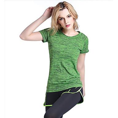Damen T-Shirt für Wanderer Außen Rasche Trocknung Atmungsaktiv Übung & Fitness Laufen