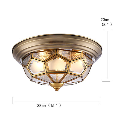 Tifani Montagem do Fluxo Luz Descendente - Antirreflexo Proteção para os Olhos, 110-120V 220-240V, Branco Quente, Lâmpada Incluída