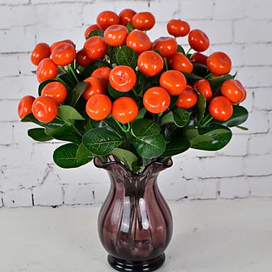 1 haara Muovi Kasvit Pöytäkukka Keinotekoinen Flowers