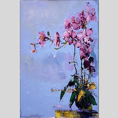 Pintados à mão Floral/Botânico Panorâmico vertical, Abstracto Tela de pintura Pintura a Óleo Decoração para casa 1 Painel