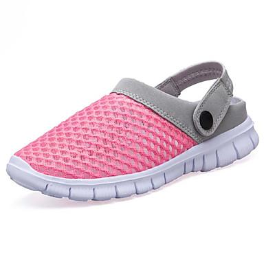 Dámské Boty PU Léto Pohodlné Sandály Rovná podrážka Otevřený palec pro Venkovní Fuchsiová Růžová
