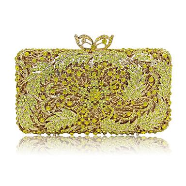 Damen Taschen Ganzjährig Polyester Spezielle Werkstoff Abendtasche Crystal / Strass für Hochzeit Veranstaltung / Fest Normal Blau Gold