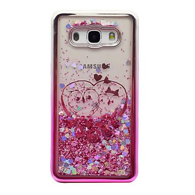 Capinha Para Samsung Galaxy J5 (2016) / J3 (2016) Galvanizado / Liquido Flutuante / Transparente Capa traseira Corujas / Glitter Brilhante Macia TPU para J5 (2016) / J3 (2016) / J3