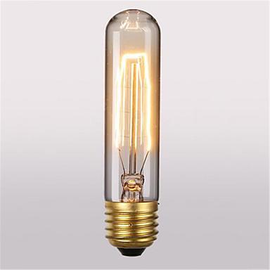 1pç 60 W E26 / E27 T10 Branco Quente 2300 k Retro / Decorativa Incandescente Vintage Edison Light Bulb 220-240 V / 110-130 V