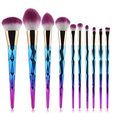 10pçs Pincéis de maquiagem Profissional Conjuntos de pincel Pêlo Sintético / Escova de Fibra Artificial Moderna / Elegante & Luxuoso