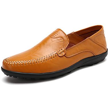 Homens Mocassim Borracha Primavera / Outono Mocassins e Slip-Ons Preto / Castanho Claro / Castanho Escuro / Loafers de conforto