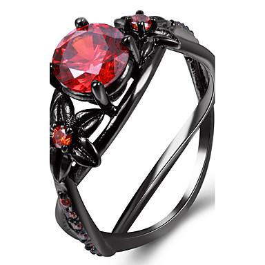 Mulheres Diamante sintético Cobre Chapeado Dourado Vidro Anel Anel de declaração - Forma Geométrica Personalizada Luxo Clássico Básico