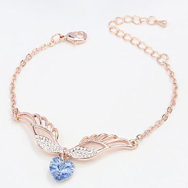 Dámské Řetězové & Ploché Náramky Šperky příroda Módní Retro Ručně vyrobeno Křišťál Slitina Heart Shape Šperky Pro Svatební Párty