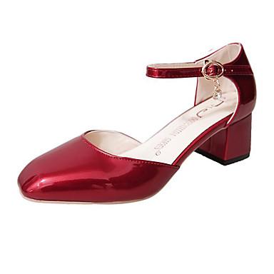 Naiset Kengät PU Kevät Sandaalit Käyttötarkoitus Valkoinen Musta Punainen
