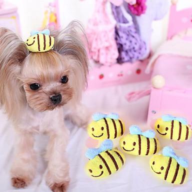 Kočka Domácí mazlíčci Pes Ozdoby Oblečení pro psy Roztomilý Běžné/Denní Módní Květiny Žlutá Růžová Kostým Pro domácí mazlíčky