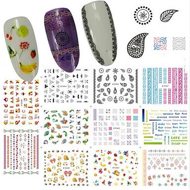 1 Nagel-Kunst-Aufkleber Wasser Transfer Aufkleber 3D Nails Nagelaufkleber Make-up kosmetische Nagelkunst Design