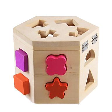 ENLIGHTEN Blocos de Construir / Jogos de Madeira Clássico Fun & Whimsical Para Meninos Dom