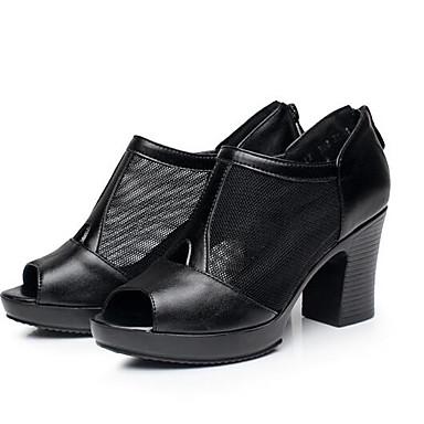 Dámské Boty Nappa Leather Jaro Pohodlné Sandály Pro Ležérní Bílá Černá