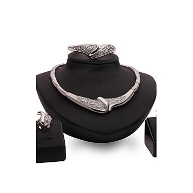 Mulheres Conjunto de jóias - Strass Importante, Personalizada, Vintage Incluir Prata Para Casamento / Festa / Ocasião Especial
