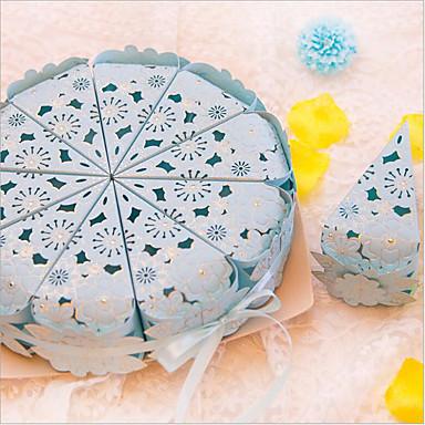 Pyöreä Neliö Pallo Helmiäispaperi Favor Holder kanssa Painettu Muistolaatikot