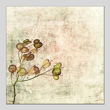 Ručně malované Květinový/Botanický motiv Obdélníkový, Klasické Moderní Plátno Hang-malované olejomalba Home dekorace Jeden panel