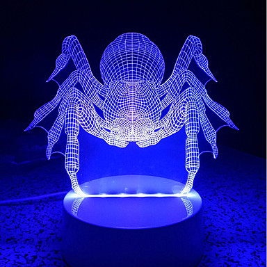 AWOO 1pç Luz noturna 3D Decorativa