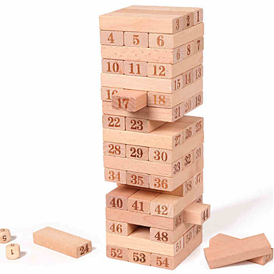 Bausteine Stapelspiele Turmbau-Sets Gleichgewichtspunkt Große Größe Quadratisch Unisex Geschenk