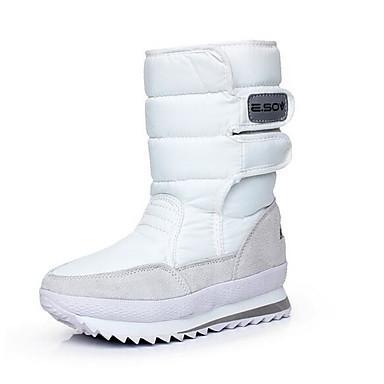 Naiset Kengät Kangas Kevät Comfort Bootsit Käyttötarkoitus Kausaliteetti Valkoinen Fuksia Burgundi