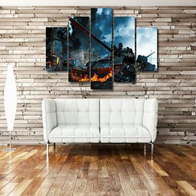 Kunstdrucke Stillleben Modern,Fünf Panele Horizontal Druck Wand Dekoration For Haus Dekoration